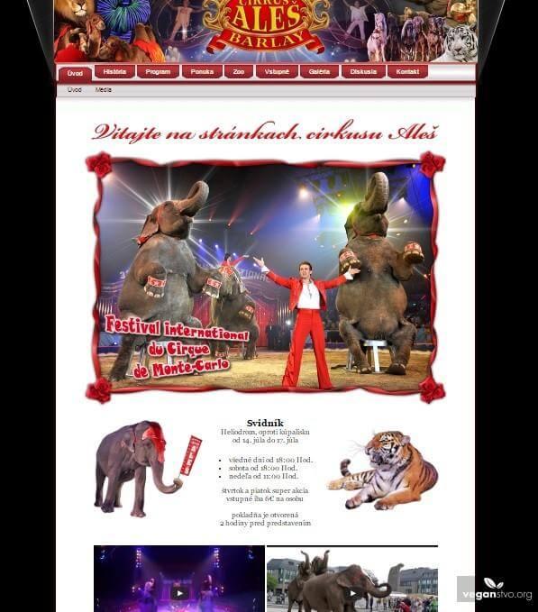 Cirkus ales uvodna stranka