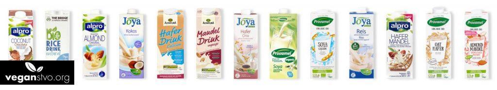rozne rastlinne mlieka